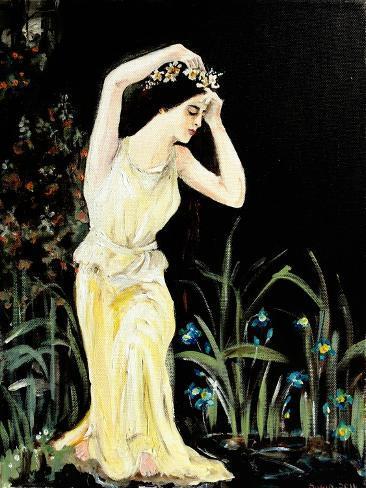 Lady by Pool Giclee Print