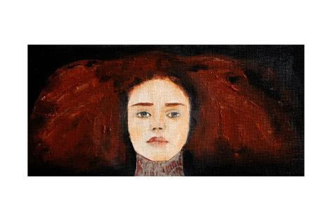 Redhead in Lace, 2016 Giclee Print