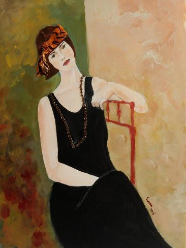 Redhead in Red Chair I 2015 Giclee Print