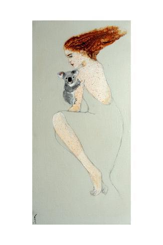 Redhead with Koala, 2016 Giclee Print