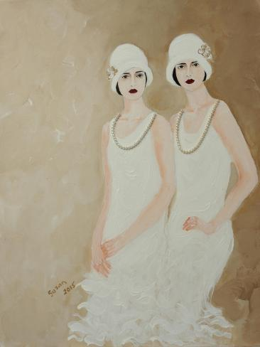 Two Ladies in White 2015 Giclee Print