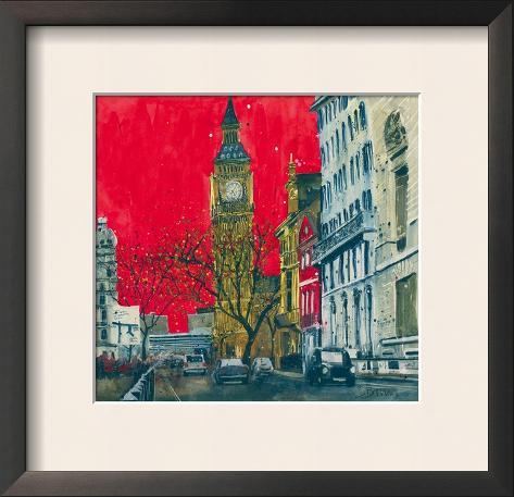 End of the Week, Westminster, London Framed Art Print