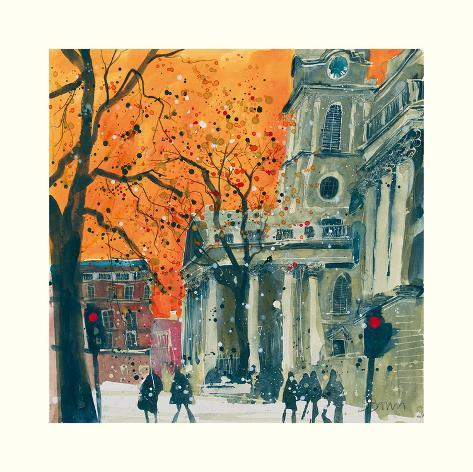 Everyone Welcome, St Martin in the Fields, London Art Print