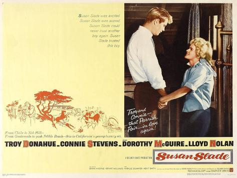 Susan Slade, 1961, Directed by Delmer Daves Giclee Print