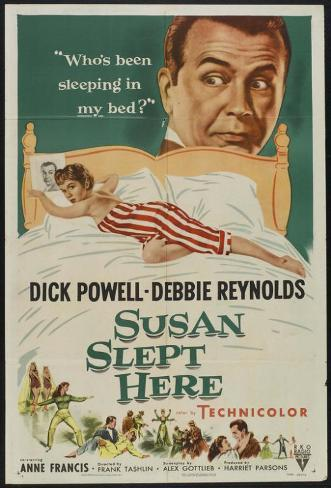 Susan Slept Here Masterprint