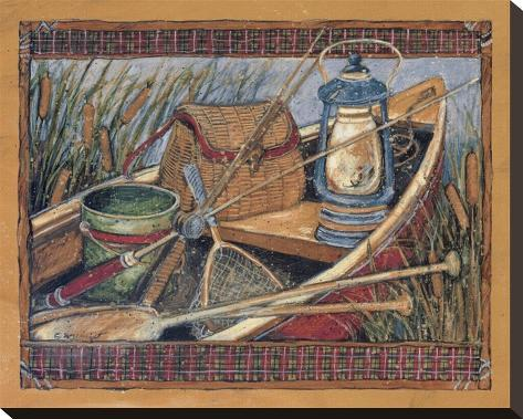 Grandpa's Boat Stretched Canvas Print