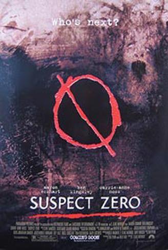 Suspeito Zero Pôster original