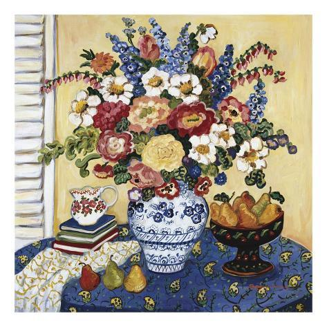 Ann's Favorite Blue And White Floral Art Print