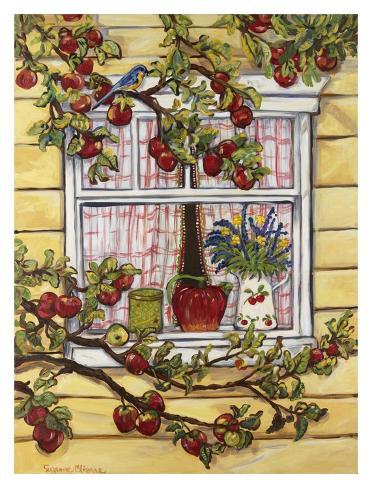 Blue Jay at the Window Art Print