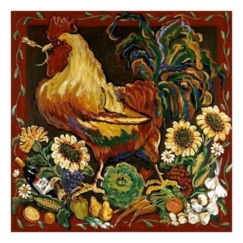 Rooster Harvest Art Print