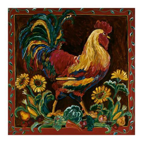 Rooster Rustic Art Print
