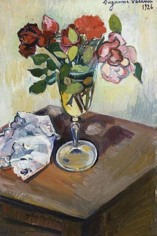 Bouquet of Roses in a Glass, 1926 Lámina giclée