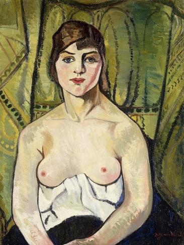 Woman with Bare Breasts Lámina giclée