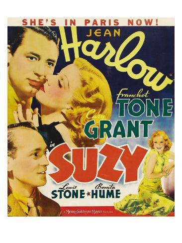 Suzy, Franchot Tone, Jean Harlow, Lewis Stone, 1936 Fotografía