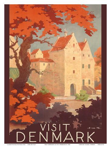 Visit Denmark - The Old Castle of Spottrup Art Print