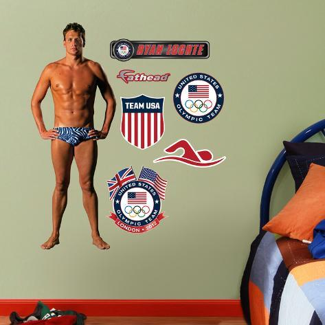 Swimming Ryan Lochte Fathead Junior Wall Decal Sticker Wall Decal