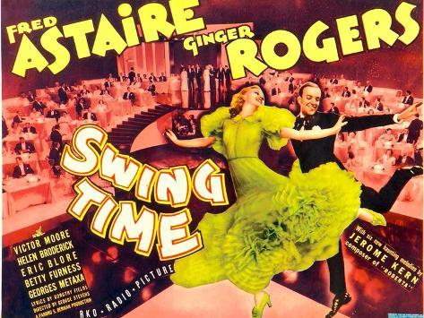 Swing Time, Ginger Rogers, Fred Astaire, 1936 Art Print
