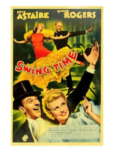Swing Time, Ginger Rogers, Fred Astaire, Fred Astaire, Ginger Rogers, 1936 Photo
