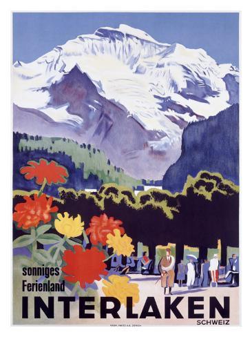 Swiss Alps, Interlaken Giclee Print