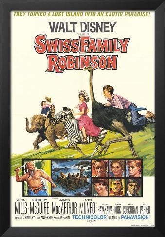 Swiss Family Robinson Framed Art Print