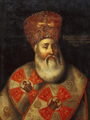 Switzerland, Geneva, Portrait of Patriarch of Constantinople, Cyril Lucaris Lámina giclée