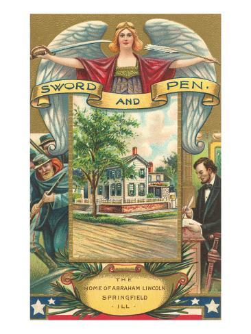 Sword and Pen, Lincoln Home, Springfield, Illinois Art Print