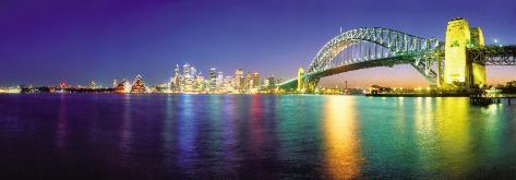 Sydney by Night Art Print