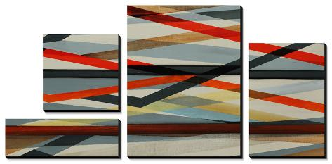 Beneath Grey - Red Canvas Art Set