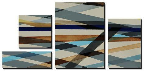 Beneath Grey - Turq Canvas Art Set