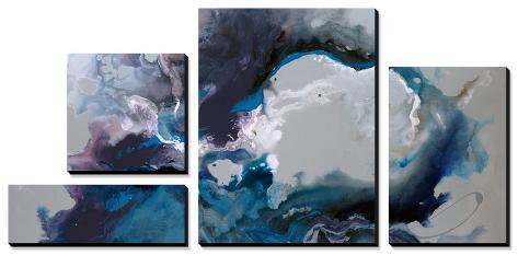 Cerulean waters Canvas Art Set