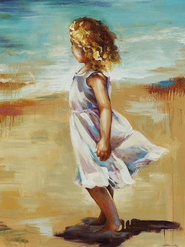 Girl at the Beach Giclee Print