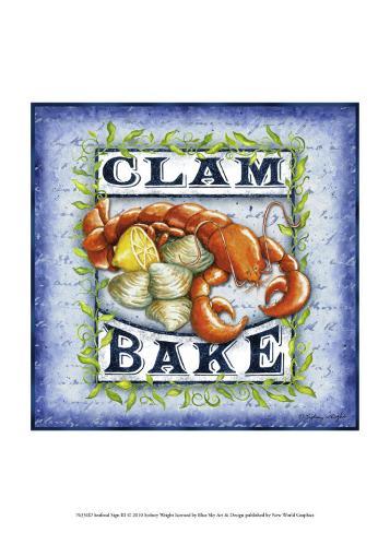 Seafood Sign III Art Print