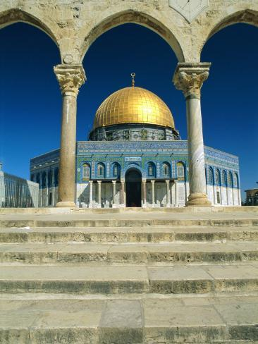The Dome of the Rock, Temple Mount, Old City, Jerusalem, Israel, Middle East Photographic Print