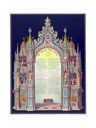 Symbols -Masonic Lord's Prayer Stampa artistica