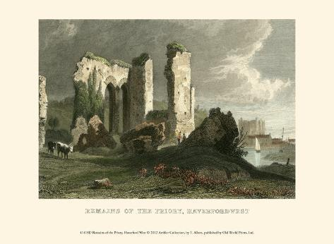 Remains of Priory, Haverford West Art Print