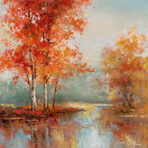 Autumn's Grace I Art Print
