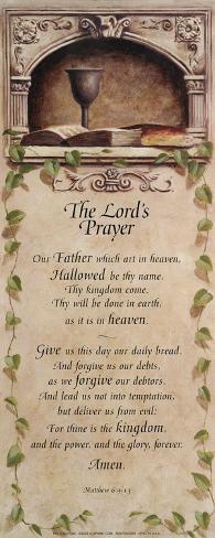 Padre nuestro, en inglés Lámina
