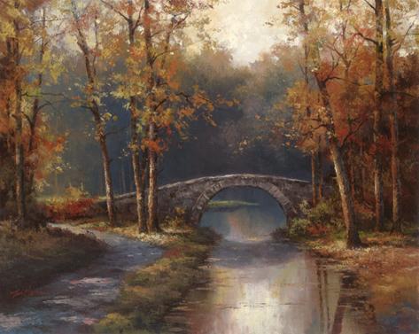 Path to Stone Bridge Art Print