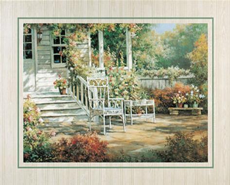 Patio Garden I Art Print