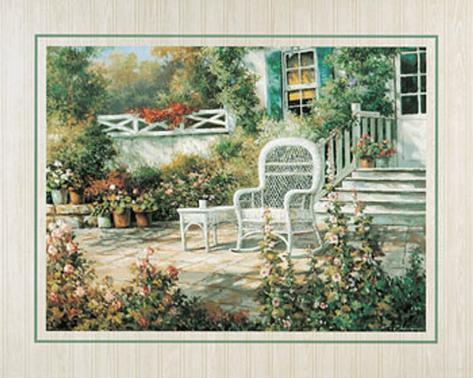 Patio Garden II Art Print