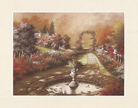 Pond with Urn Art Print