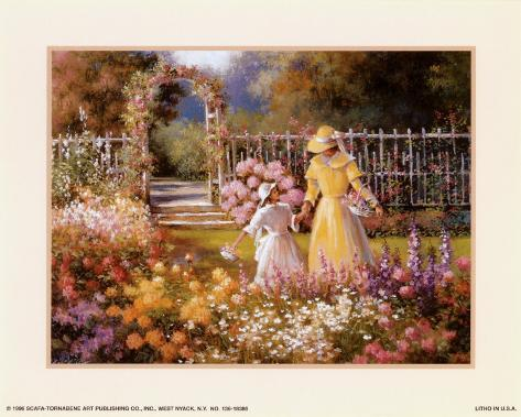 Trellis with Garden Art Print