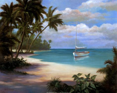 Tropical Cast Away Art Print