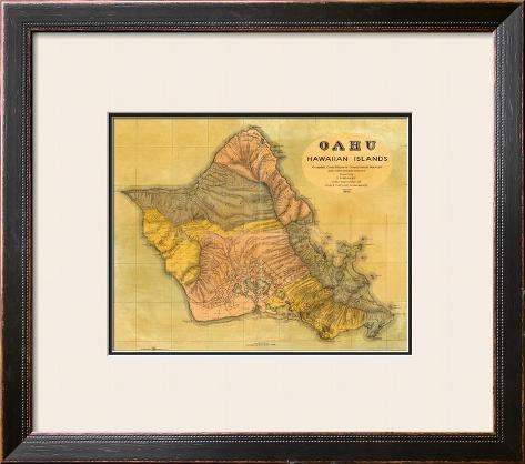 Oahu, Hawaiian Islands, c.1899 Framed Giclee Print