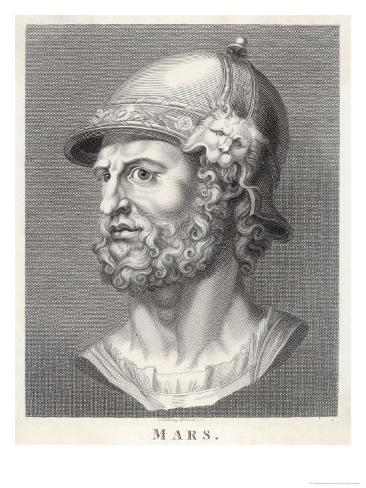 The Roman God of War Similar to the Greek God Ares But Not Identical Giclee Print