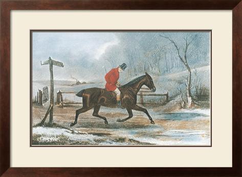 Pleasant Ride Home Framed Art Print