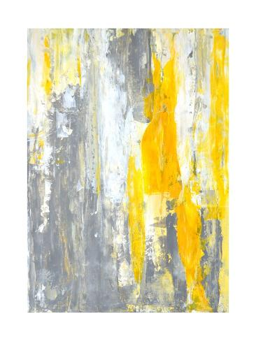 Grey and Yellow Abstract Art Painting Art by T30Gallery - AllPosters ...