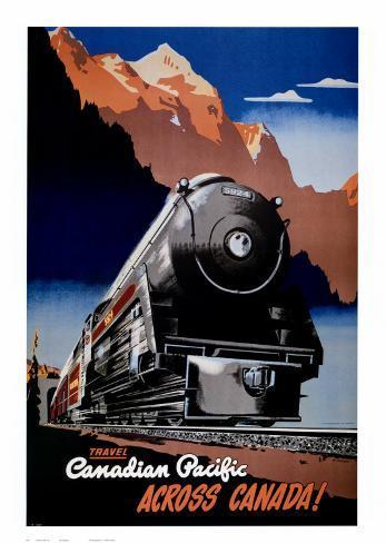 Tåg från Canadian Pacific Konstprint