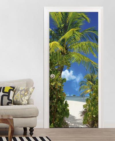 Tahiti door wallpaper mural wallpaper mural by for Door mural wallpaper