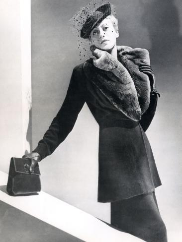 Tailor-Made, Fur Collar Stampa fotografica